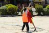 Rencontre d'ultimate UNSS/Frisbeurs Nantais. Dans le cadre du tournoi 'Yes But Nau'.<br /> Plage du Nau.  Le Pouliguen<br /> PhotoID : 2012-05-23-0036