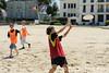 Rencontre d'ultimate UNSS/Frisbeurs Nantais. Dans le cadre du tournoi 'Yes But Nau'.<br /> Plage du Nau.  Le Pouliguen<br /> PhotoID : 2012-05-23-0040