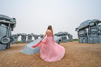 Modeling at Carhenge in Nebraska