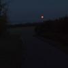 Orange moon, chilly May morning at 4:30