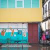 Monrovia, Liberia October 10, 2017 -  Rain water floods low lying streets and neighborhoods.