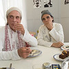 David Life and his nephew Jules Febre mess in' around in the mess hall at the Omega Institute