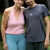 Jivamukti Yoga certified teachers Jules Febre and his mother Julie Kirkpatrick
