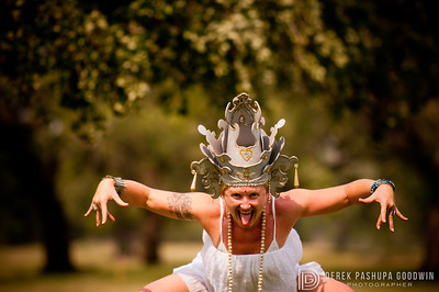 Jivamukti goddess Michele Baker, founder and co-owner of Swan River Yoga, channeling Kali