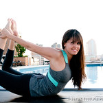 Nathalie Croix of Shanti Yoga Shala on a rooftop in New Orleans