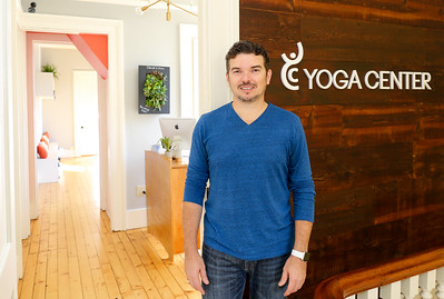 Shawn Cole, owner at Yoga Center of Collinsville's new space at Suite 301, 10 Front St.  Photo by John Fitts