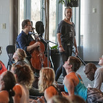 Ben Sollee played as an instructor lead the segment.