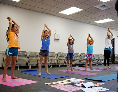 Yoga at the Library. 080416