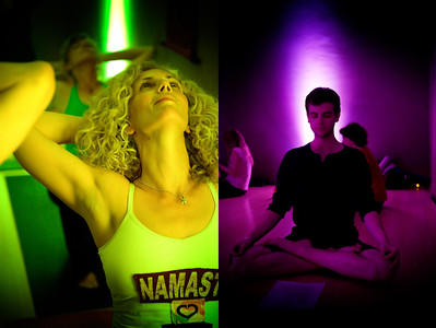 Friday Night Yoga Club at Samadhi, benefiting the Chanda Plan Foundation.
