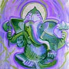 Whitetop Yoga Ganesha Purple