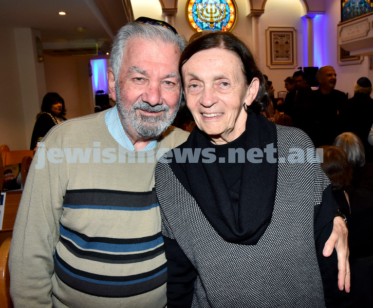 Yochai Cohen concert at the Sephardi Synagogue. Paul and Judy Lindsay. Pic Noel Kessel