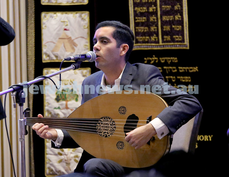 Yochai Cohen concert at the Sephardi Synagogue.