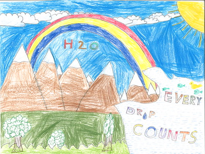 Tarneet Sran, in the 1-2 grade division, from Holy Rosary School in Woodland earned an honorable mention award.