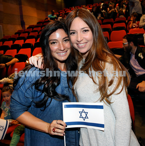 Yom Haatzmaut fair at Moriah College. Chana Raizel Friedman (left) & Talia Bernstein. Pic Noel Kessel.