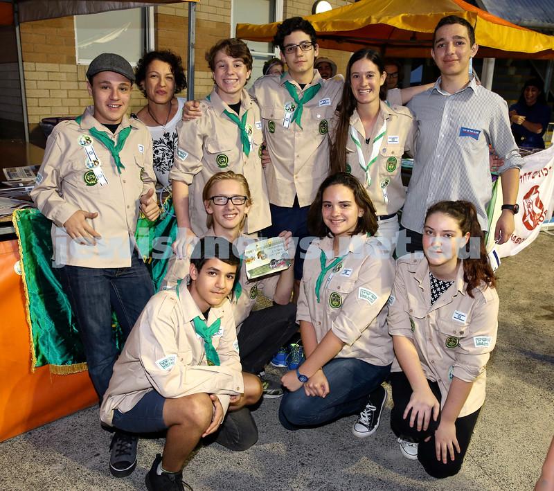 Yom Haatzmaut fair at Moriah College. A group of Israeli Scouts. Pic Noel Kessel.