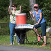 Pat and Barbara from the Middleboro Y kept the athletes hydrated with a smile and thumbs up.