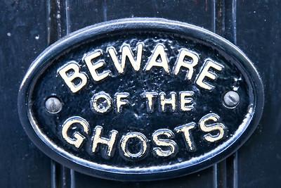 Door sign on The Golden Fleece, York's most haunted pub