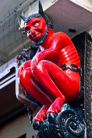 The devil in Stonegate, York