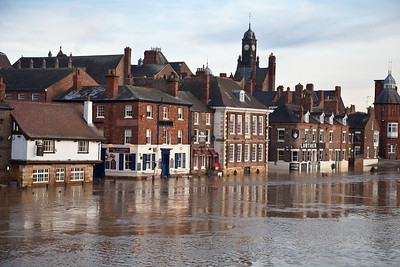 Flooded river Ouse, York
