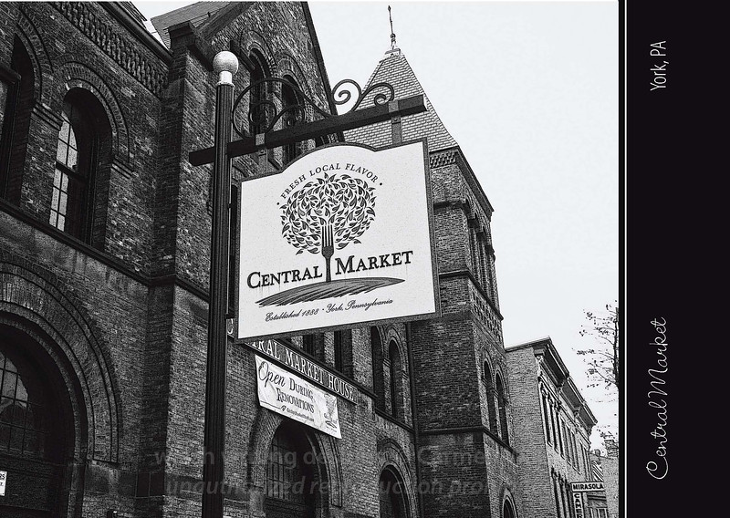 """Featuring the image """"Central Market Street Sign"""""""
