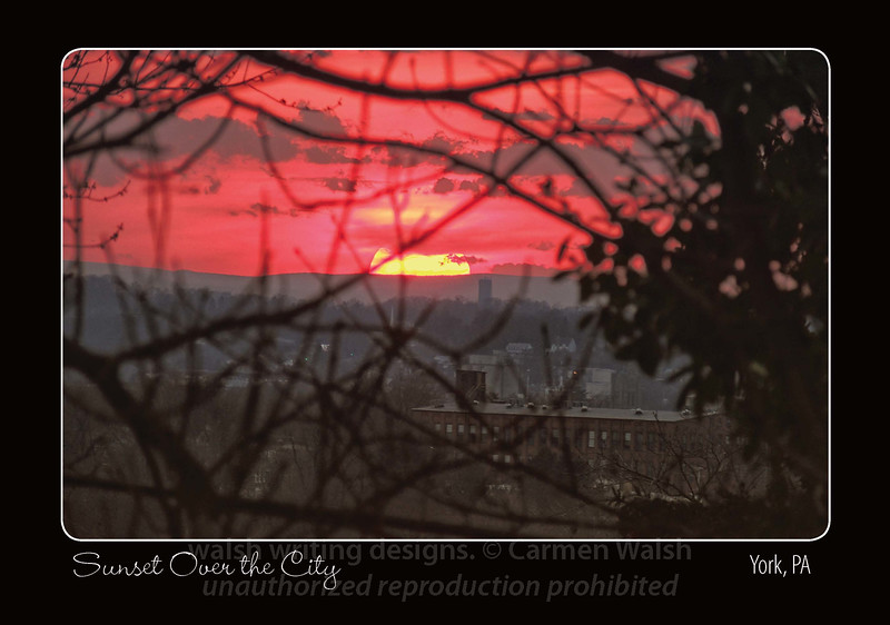 "Featuring the image ""Red Evening in the City"""