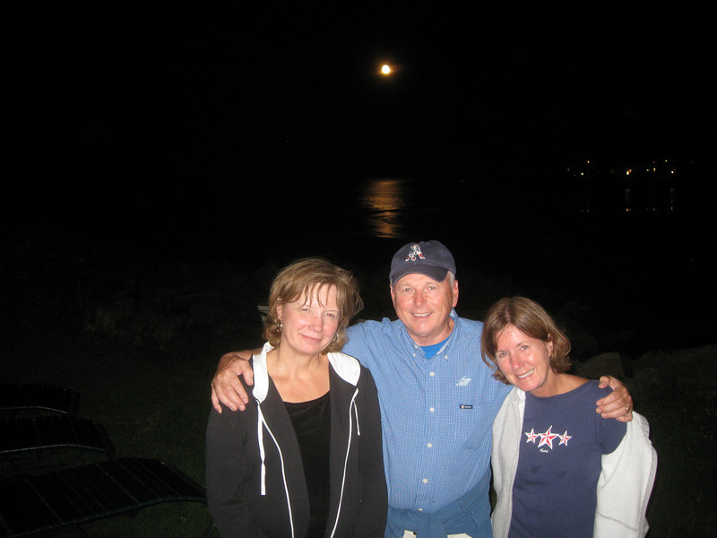 IMG_0001 Carol Bernie and Carol in the Saturday moonlight