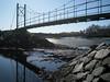 Wiggley Bridge at low tide, Mar 15