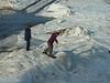 P1060259 Parking lot snow boarding