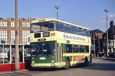 Yorkshire Rider 6407 Leeds Central Bus Station Mar 94