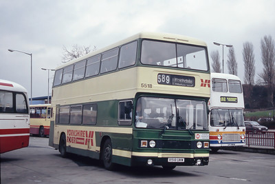 Yorkshire Rider 5518 Burnley Bus Station Mar 94