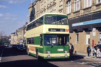 Yorkshire Rider 6343 High Street Morley Mar 94