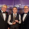 Personality of the Year presented to Josh Warrington by Simon Mackaness on bealf of Rudding Park.  Also pictured Peter McCormick