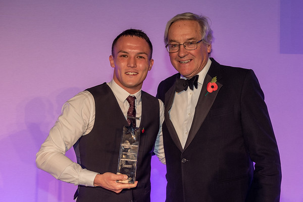 Personality of the Year presented to Josh Warrington by Simon Mackaness on bealf of Rudding Park