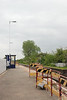 Shot looking back along the Goole bound platform showing the waiting shelter