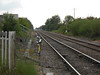 Pic by Liz <br /> <br /> Close up shot of the line looking towards Knottingley from Station Road Crossing