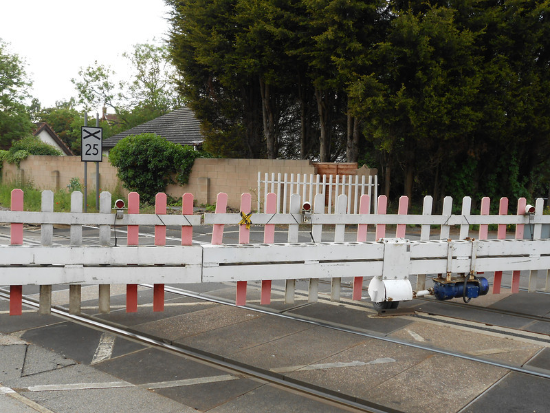 Pic by Liz <br /> <br /> shot of the Crossing gates looking towards Knottingley