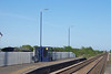 when getting off the train the train goes past the station building and they built a new stop just a bit further up looking towards Goole