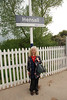 Liz under the Hensall station sign had to as usual have a pic for the record<br /> <br /> Ghost Station winner for Liz # 22