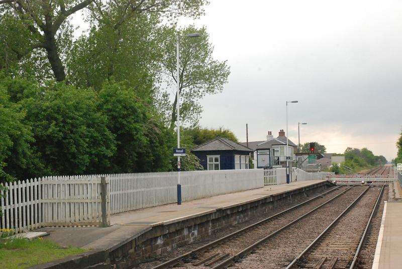 Shot showing the Leeds bound platform