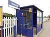 Pic by Liz <br /> <br /> Like most Ghost Stations Hensall has the usual waiting shelter to wait in