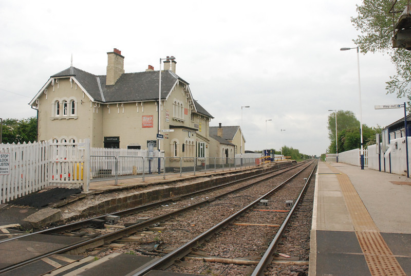 Hensall Station from the Crossing looking towards Goole