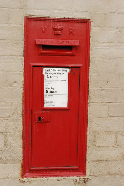 it even had a post box that was still in use