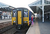 150 269 + 153 315 <br /> <br /> Goole <br /> <br /> After arriving on <br /> <br /> 17.16 Leeds - Goole <br /> <br /> Liz stands next to <br /> <br /> 150 269 <br /> <br /> after finally completing the whole route from Knottingley to Goole <br /> <br /> 10th June 2013