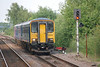 153 315 + 150 269 <br /> <br /> approach Goole station after crossing over