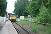 144 014 <br /> <br /> Crosses Station Road crossing and pulls into Rawcliffe bang on time <br /> <br /> at 18.56 pm <br /> <br /> on the <br /> <br /> 18.49 Goole - Leeds <br /> <br /> The last train of the day to call here till the morning one tomorrow at 07.11 am