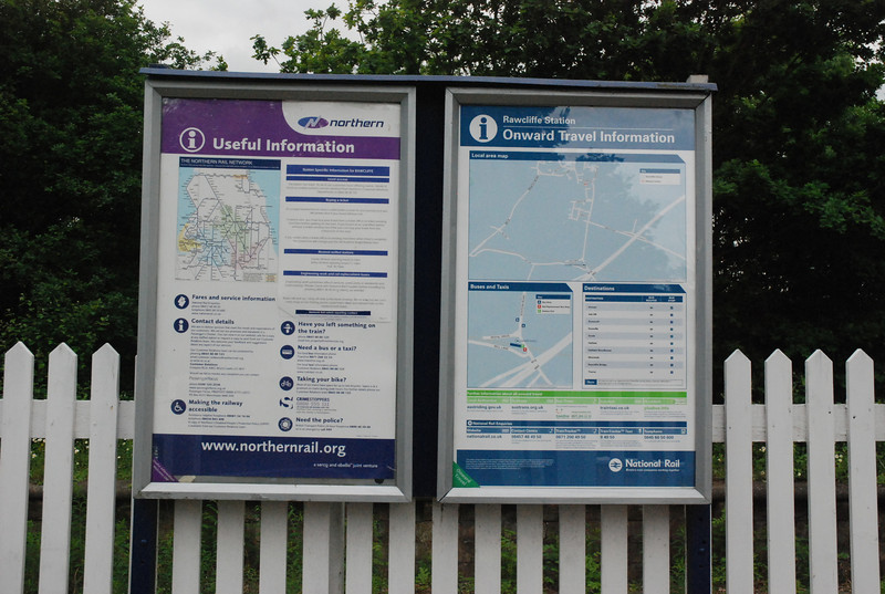 the usefull info poster and onward travel map not that there<br /> <br />  was much here Rawcliffe was defo a proper Ghost Station it was in <br /> <br /> the middle of nowhere as you will see in a bit<br /> <br /> New to Smugmug?? <br /> <br /> To read the print clearly / make picture bigger : <br /> <br /> Best way to read it if you new to Smugmug<br /> <br /> Put your mouse pointer over centre of pic and <br /> <br /> double click which blows it up. <br /> <br /> Then in the Bottom RIGHT hand corner <br /> <br /> there is a RESIZE BUTTON so select size you want. <br /> <br /> To cancel and come back just click the big X in top right hand