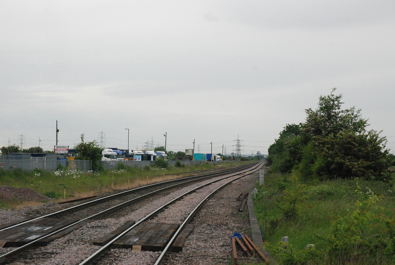swing round 360 degrees and this shot looks back towards Knottingley