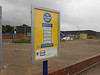 Pic by Liz <br /> <br /> showing the very empty car park and the Help poster on the platform
