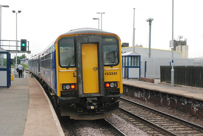 150 275 + 153 351   Depart Whitley Bridge   12th June 2013   amazingly outside of me and Liz somebody else actually got off