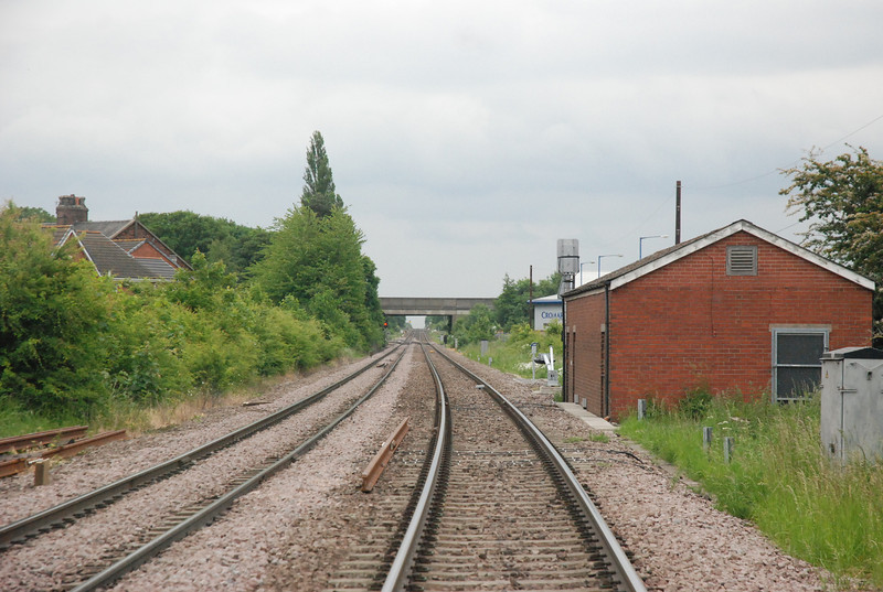 closer shot of the line towards Goole taken from the Road crossing